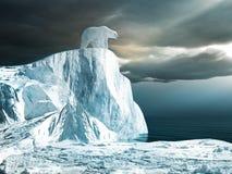 Polaire concernez le dessus de l'iceberg illustration stock