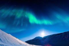 Polaire Noordelijke lichten in Noorwegen Royalty-vrije Stock Afbeelding