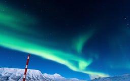 Polaire Noordelijke lichten in Noorwegen Stock Afbeelding