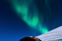Polaire Noordelijke lichten in Noorwegen Stock Afbeeldingen