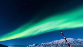 Polaire Noordelijke lichten in Noorwegen Stock Foto
