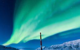 Polaire Noordelijke lichten in Noorwegen Royalty-vrije Stock Foto