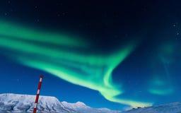 Polaire Noordelijke lichten in Noorwegen Royalty-vrije Stock Afbeeldingen