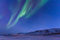 Polaire noordpool Noordelijke de hemelster van het lichtenaurora borealis in Noorwegen Svalbard in Longyearbyen de maanbergen stock foto