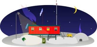 Polaire post in Antarctica Stock Foto's