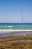 polak połowów na plaży Zdjęcie Stock