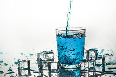 Polana woda w szkło Obrazy Royalty Free
