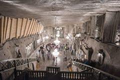 Poland's地下盐大教堂 免版税库存图片