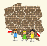 Poland. Map of Poland. Vector illustaration Royalty Free Stock Photo