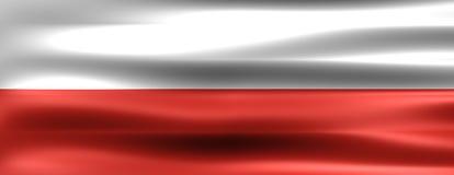 Poland. Flag - Symbol of a country Stock Photo