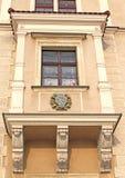 Poland ancient balcony in Krakow royalty free stock photo