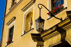 Poland ancient street lamp Royalty Free Stock Images