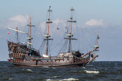 Poland Baltic Sea old sailing ship Stock Images