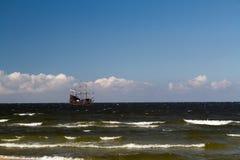 Poland Baltic Sea old sailing ship Stock Image