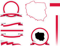 Poland Banner Set. Royalty Free Stock Photography