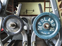 Poland Bar Bell Disc Gym. Stock Images