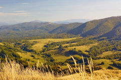 Poland: Bieszczady climbing trail - a view from the top Royalty Free Stock Images