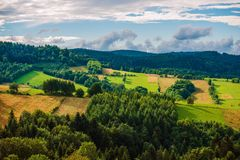 Poland Bieszczady Landscape Royalty Free Stock Image