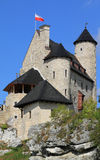Poland - Bobolice. Bobolice castle - old fortress in Poland. Landmark in Europe Royalty Free Stock Photography