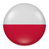 Poland button Royalty Free Stock Photography