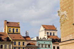 Poland capital Warsaw old town Royalty Free Stock Images