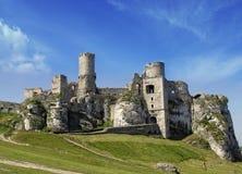 poland Castello in Ogrodzieniec fotografia stock libera da diritti