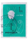 POLAND - CIRCA 1963: Add stamps, seals Stock Image