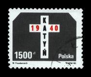 Katyn forest massacre memorial, 50th anniversary, Poland, circa 1990, Royalty Free Stock Photo