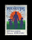 Janusz Korczak and Children, birth centenary, circ Stock Photo