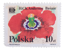 POLAND - CIRCA 1987: post stamp printed in Polska shows Stock Photo