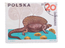 POLAND - CIRCA 1965: A stamp printed in  showing Edaphosau Royalty Free Stock Images