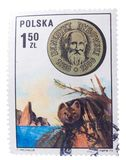 POLAND - CIRCA 1973: a stamp printed in the  shows Benedyk Stock Image