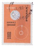 POLAND - CIRCA 1963: stamp printed by , shows The emblem o Stock Photo
