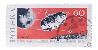 POLAND - CIRCA 1967: A stamp printed in shows flight of s stock photos