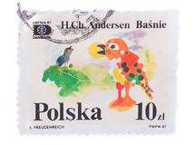 POLAND - CIRCA 1987: A stamp printed in , shows The Nighti. POLAND - CIRCA 1987: A stamp printed in Poland, shows The Nightingale, series, circa 1987 stock images