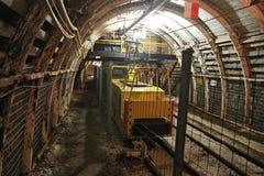 Poland coal mine. Interior - underground tunnel. Industry in Zabrze, Upper Silesia Stock Images