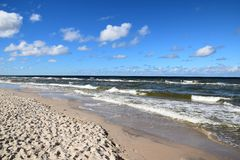 Poland: coast of the baltic sea Royalty Free Stock Photo