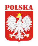 Poland coat of arms Royalty Free Stock Photos