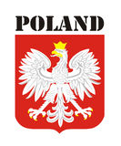 Poland coat of arms Stock Image
