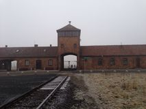 Poland concentration camp Aushwitz royalty free stock images
