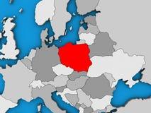 Poland on 3D map. Poland on blue political 3D globe. 3D illustration vector illustration