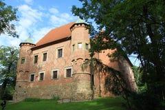 Poland - Debno. Landmark in Poland - Debno castle. Late gothic architecture Stock Photos