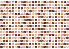 Donuts are the most wonderful sweet you can imagine for a second breakfast. In Poland, the donut has become a symbol of the ending of the carnival and the stock illustration
