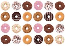 Donuts are the most wonderful sweet you can imagine for a second breakfast. royalty free stock photo
