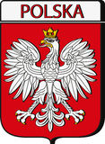 Poland Emblem. And country name in native language Royalty Free Stock Images