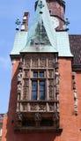 poland för stadsdetaljkorridor wroclaw Arkivbild