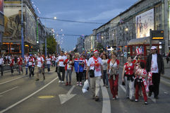 Poland fans EURO 2012 Stock Photo