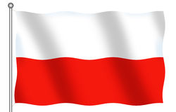 Poland Flag. Isolated Flag of Poland (computer generated royalty free illustration