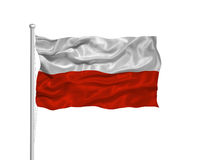 Poland Flag 2 Royalty Free Stock Photography