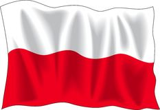 Poland flag Royalty Free Stock Image